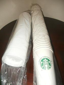 Starbucks White Disposable 16 Ounce Hot Paper Cups & Lids Pa